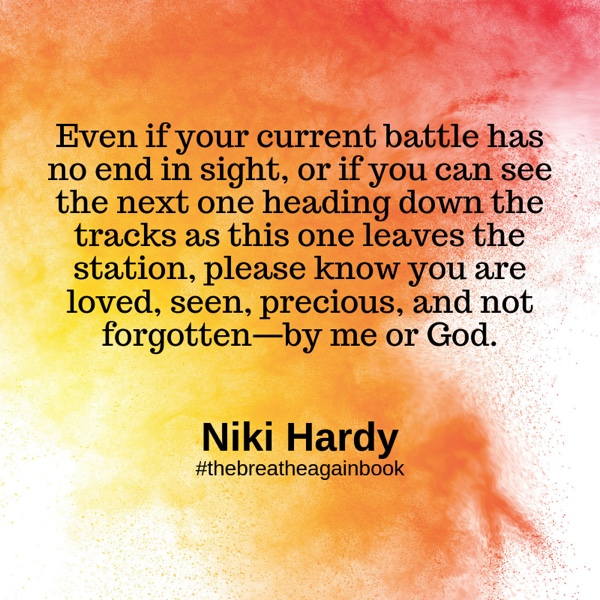 Breathe Again by Nicki Hardy shares practices to help others live well when life falls apart. After losing both her mother and sister to cancer, she too was diagnosed.