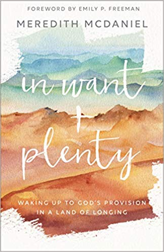In Want + Plenty Meredith McDaniel uses the story of the Israelite's journey to the promised land to help readers discover the way God provides for them.